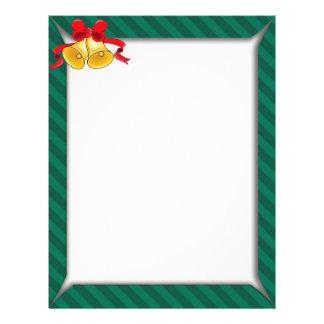Green Striped Shirt Box Border Letterhead