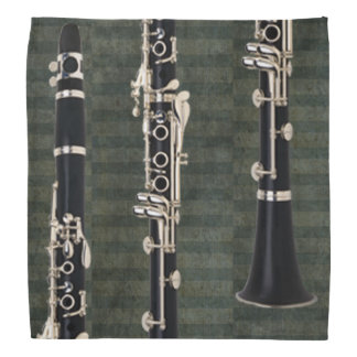 Green-Striped Tied Clarinet Bandana