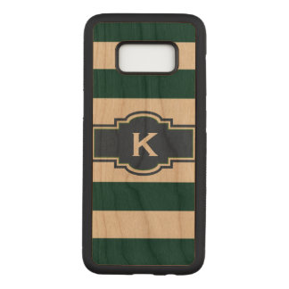 Green Stripes and Monogram Samsung S8 Case