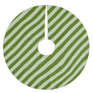Green Stripes Brushed Polyester Tree Skirt