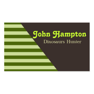 Green stripes dinosaur business card business cards