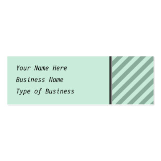 Green Stripes. Mini Business Card