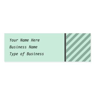 Green Stripes. Mini Business Card