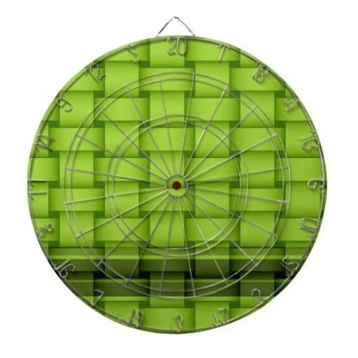 Green stripes wicker art graphic design dart boards