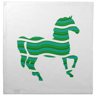 Green stripped Thoroughbred Napkin