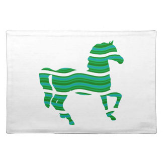 Green stripped Thoroughbred Placemat
