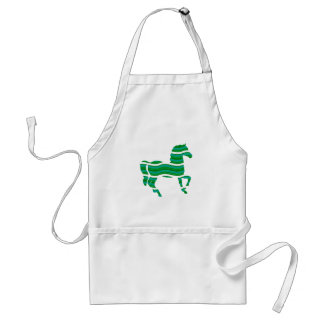Green stripped Thoroughbred Standard Apron