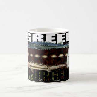 Green Sturgeon Collage Mug