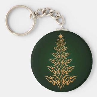 Green Stylish Christmas Tree Key Chain