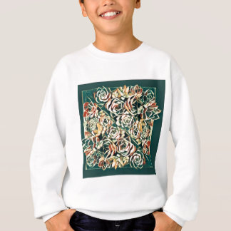 green succulent square sweatshirt