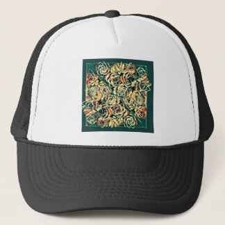 green succulent square trucker hat