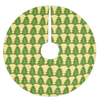 Green Sugar Cookies Christmas Xmas Tree Skirt Brushed Polyester Tree Skirt