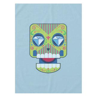 Green Sugar Skull Diamonds Tablecloth