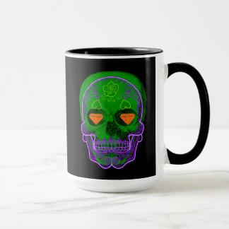 Green Sugar Skull Mug