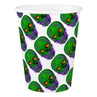 Green Sugar Skull Paper Cup