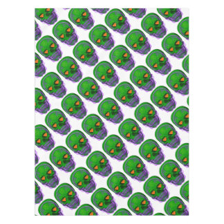 Green Sugar Skull Tablecloth