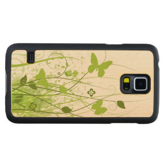 Green Summer Garden Carved Maple Galaxy S5 Case