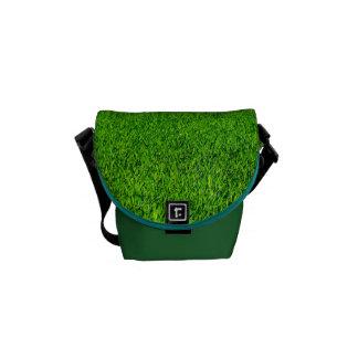 Green Summer Grass Texture Courier Bag