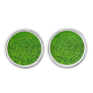 Green Summer Grass Texture Cufflinks