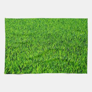 Green Summer Grass Texture Kitchen Towel