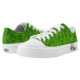 Green Summer Grass Texture Low-Top Sneakers
