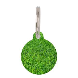 Green Summer Grass Texture Pet Tag