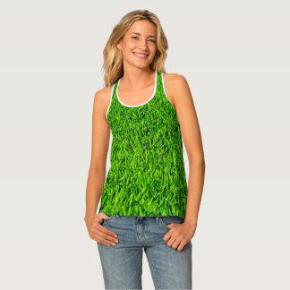 Green Summer Grass Texture Tank Top