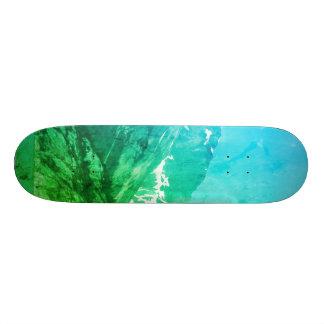 Green Summer Mountains Skateboard