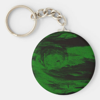 Green Sun Rises(or sets) Basic Round Button Keychain