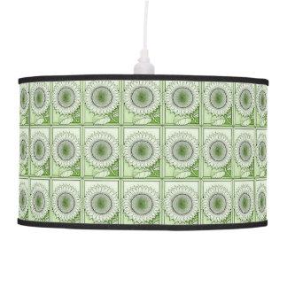 Green Sunflower Pendant Lamp