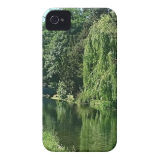 Green sunny spring day green trees river walk Case-Mate iPhone 4 case