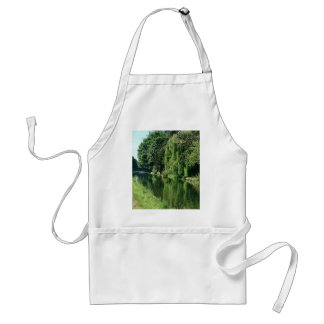 Green sunny spring day green trees river walk standard apron
