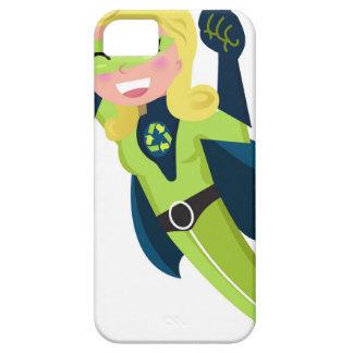 Green superhero girl iPhone 5 cases