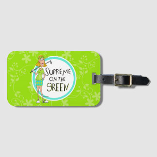 Green- Supreme on the Green- Blonde Luggage Tag