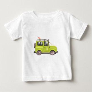 Green suv Safari Car. Cool Colorful Vector Illustr Baby T-Shirt