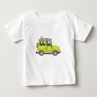 Green suv Safari Car. Cool Colorful Vector Illustr Baby T-Shirt