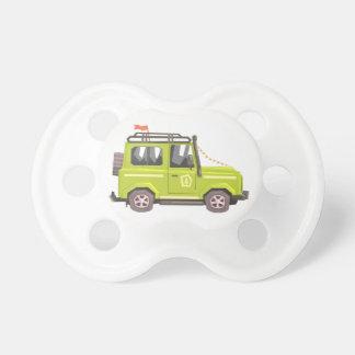 Green suv Safari Car. Cool Colorful Vector Illustr Pacifier