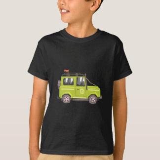 Green suv Safari Car. Cool Colorful Vector Illustr T-Shirt