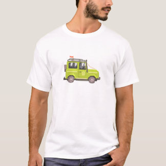 Green suv Safari Car. Cool Colorful Vector Illustr T-Shirt