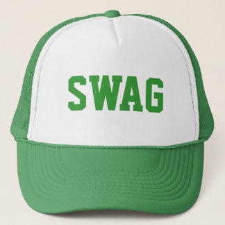 green swag snapback trucker hat