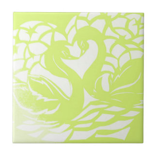 green swans.jpg ceramic tile