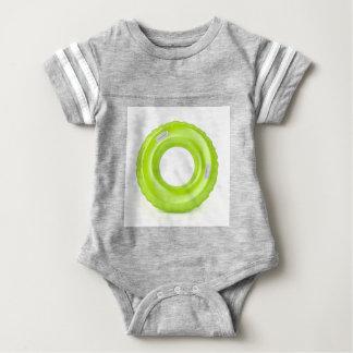 Green swim ring baby bodysuit