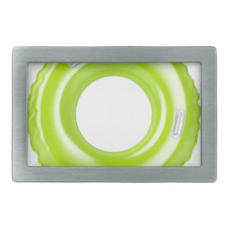 Green swim ring belt buckle