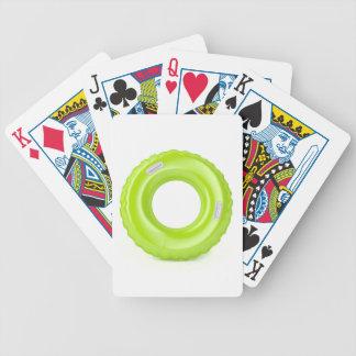Green swim ring bicycle playing cards