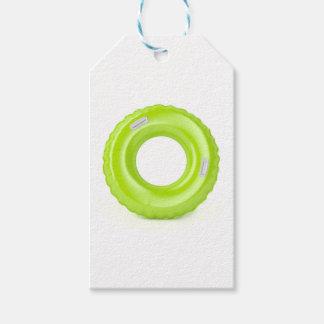 Green swim ring gift tags
