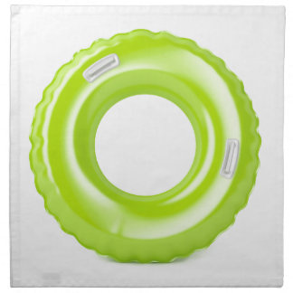 Green swim ring napkin