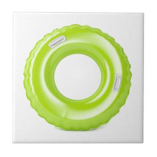 Green swim ring tile