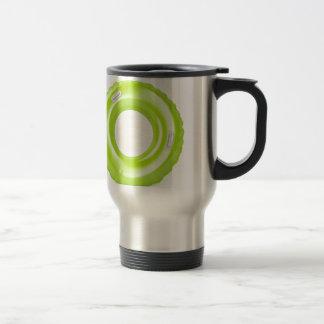 Green swim ring travel mug