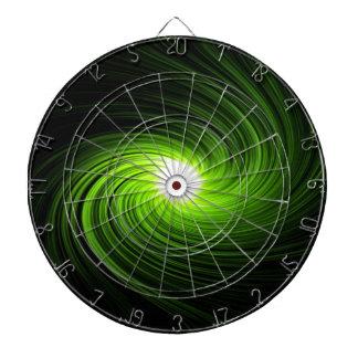 Green swirl abstract. dart board