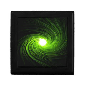 Green swirl abstract. gift box